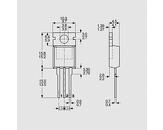 Tranzistor močnostni Mosfet N-Ch 100V 42A 160W 0,036R TO220AB