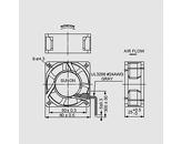 Ventilator 230V 60x60x25 V L 29,7m3/h 30dBA 4,1W