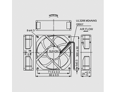 Ventilator 230V 80x80x25 V L 67,9m3/h 32dBA 4,6W