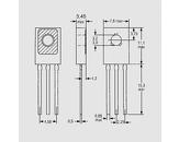 Tranzistor NPN 300V 0,5A 20W B:30-240 TO126