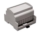 Ohišje ABS DIN Rail svetlo sivo 105x61,7x87,5 AL