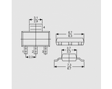Dioda PNP 300V 0,5A 0,36W B>25 SOT23