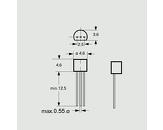 Tranzistor NPN 45V 0,1A 0,5W B:200-450 TO92