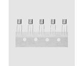 Tranzistor PNP 45V 0,1A 0,5W B:420-800 TO92
