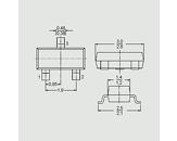 Tranzistor NPN 45V 0,1A 0,25W B:110-220 SOT23