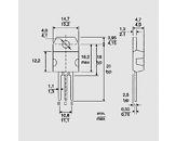 Tranzistor močnostni NPN 80V 10A 125W TO218