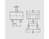 Tranzistor NPN Digital 50V 0,1A 0,2W SOT23