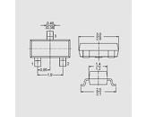 Tranzistor NPN-Darlington 30V 0,5A 0,25W B>4000 SOT23