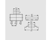 Tranzistor NPN 125V 0,8A 0,33W B>25 SOT23
