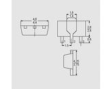Tranzistor NPN 45V 1A 1,3W B:100-250 SOT89