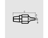 Sesalna šoba 2,3/1,0mm