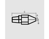 Sesalna šoba 3,3/1,8mm