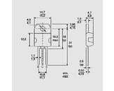 Tranzistor PNP-Darlington 100V 10A 125W TO218