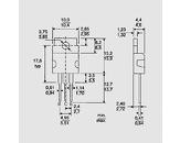 Tranzistor NPN-Darlington 100V 8A 60W TO220