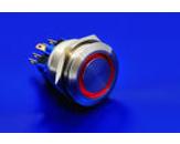 Stikalo antivandal iz nerjavecega jekla DPDT Ring Orange illu. LED220V