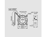 Ventilator 5V 25x25x10 V 5,1m3/h 16dBA 0,4W