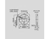 Ventilator 5V 40x40x6 V 9,3m3/h 26dBA 0,4W